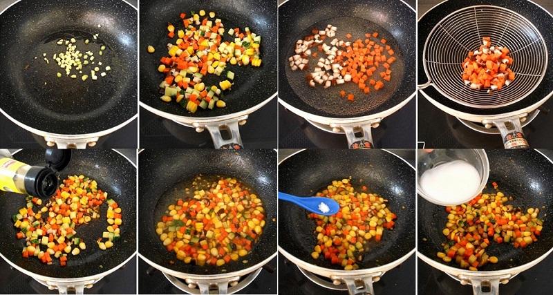 Hấp dẫn đậu phụ chiên ngũ sắc cho bữa tối ngon cơm 4
