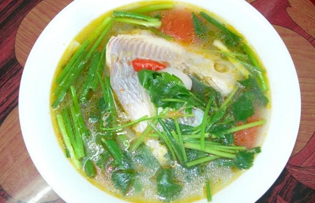 lạ miệng với canh cá điêu hồng nấu ngót hấp dẫn
