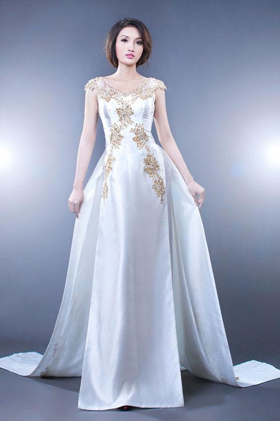 những kiểu áo dài cưới tuyệt đẹp cho cô dâu trong ngày hạnh phúc