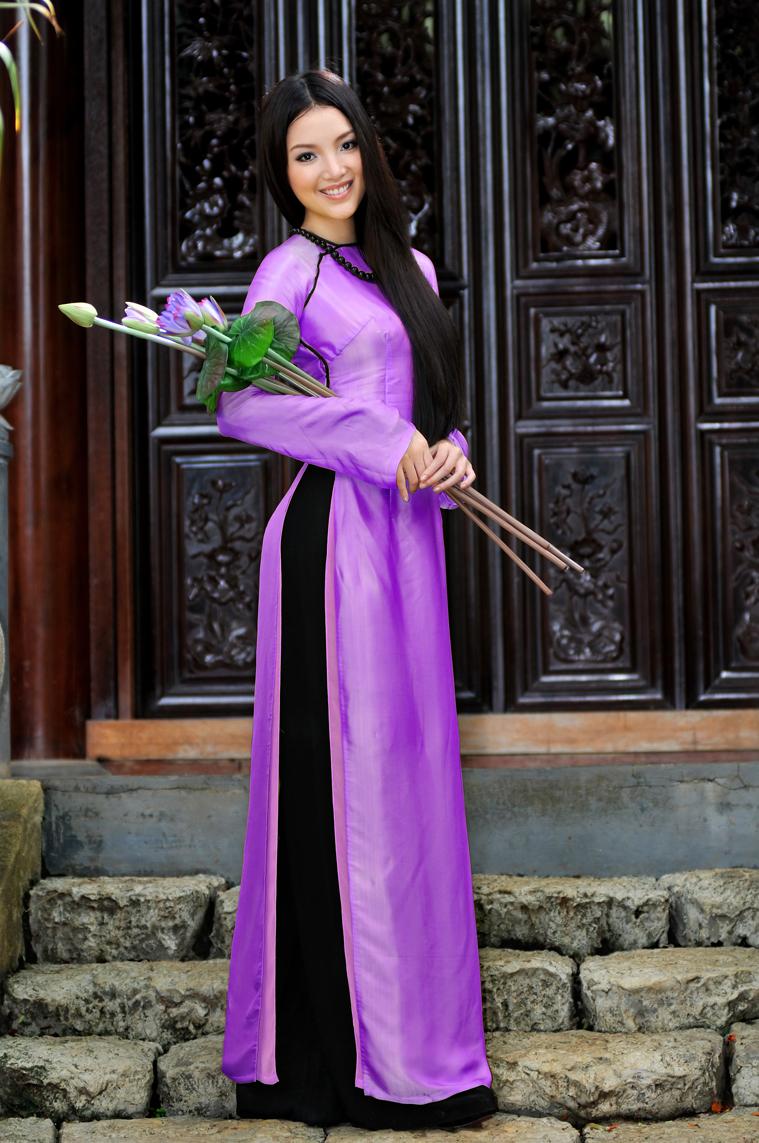 Chiêm ngưỡng những mỹ nhân Việt diện áo dài đẹp tuyệt vời 4