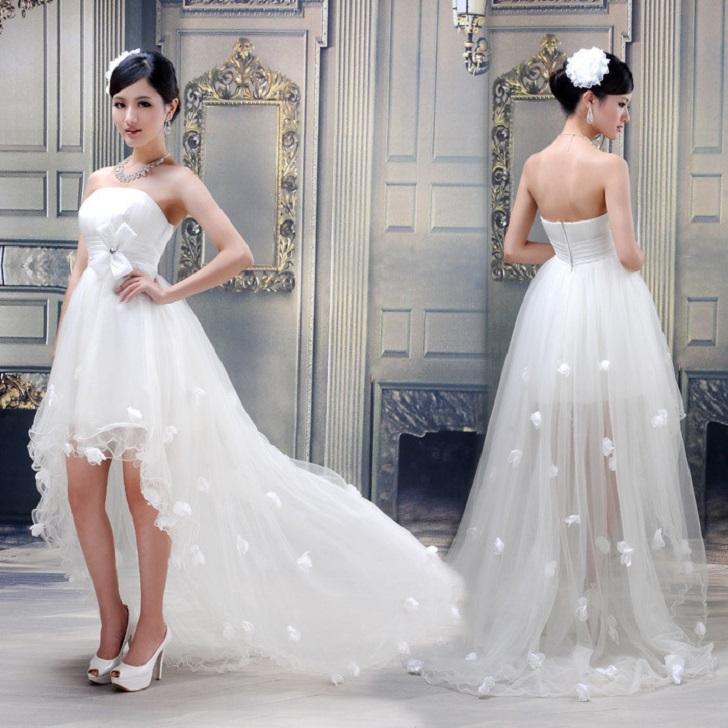 Rạng ngời hơn trong ngày cưới với những mẫu váy cưới ngắn 2
