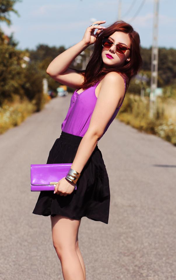 nhẹ nhàng quyến rũ hơn với những bộ váy áo màu tím 5