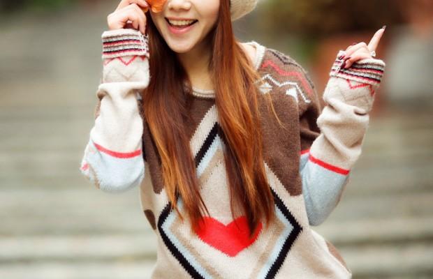 Xinh xắn cùng những chiếc áo len để đón ngày giao mùa của năm 0