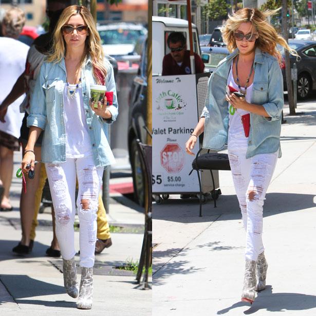 Bạn gái trở nên cá tính năng động với quần jean rách xuống phố 3