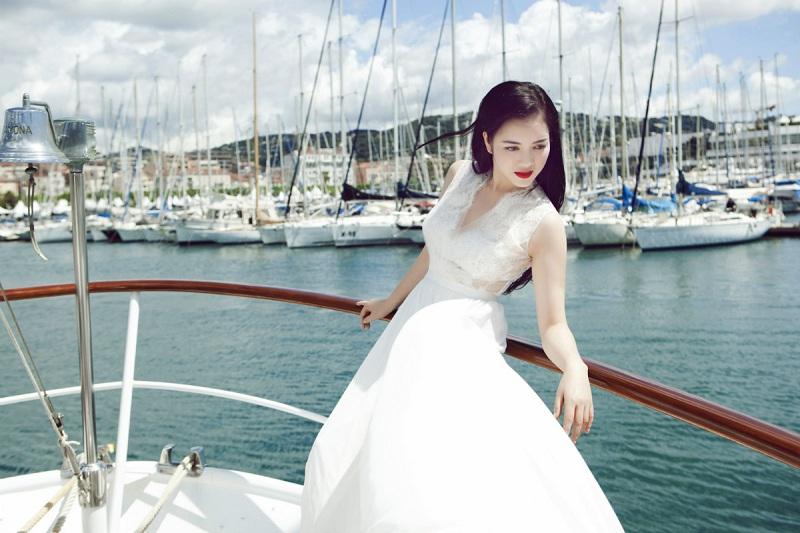 Học Lý Nhã Kỳ cách giấu cân nặng qua việc chọn váy áo 9