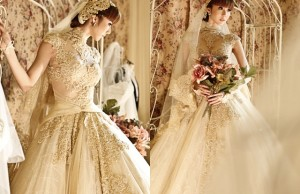 Những bộ váy cưới màu nude giúp nàng dịu dàng hơn trong ngày cưới 0