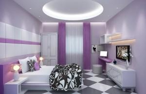 Phòng ngủ màu tím giúp giấc ngủ của bạn thêm ngọt ngào 0