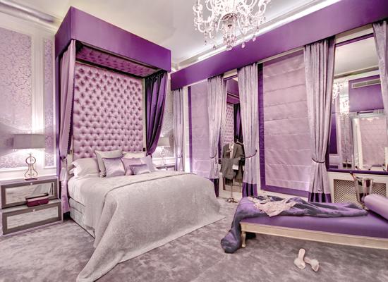 Phòng ngủ màu tím giúp giấc ngủ của bạn thêm ngọt ngào 2