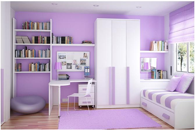 Phòng ngủ màu tím giúp giấc ngủ của bạn thêm ngọt ngào 4