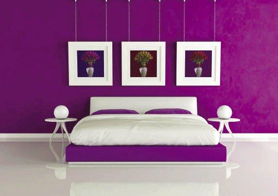 Phòng ngủ màu tím giúp giấc ngủ của bạn thêm ngọt ngào 5