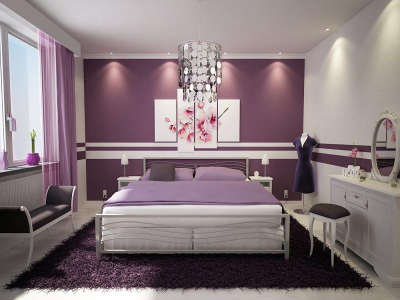 Phòng ngủ màu tím giúp giấc ngủ của bạn thêm ngọt ngào 6