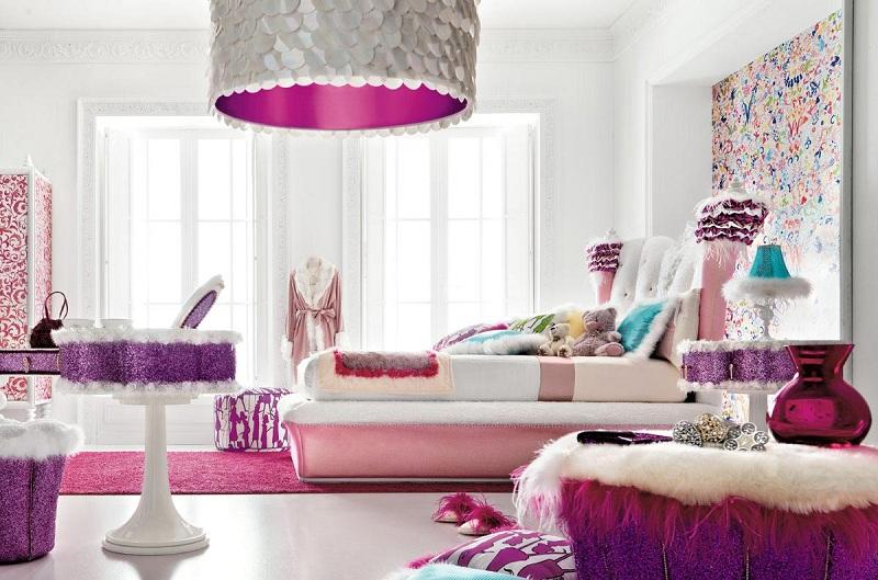 Phòng ngủ màu tím giúp giấc ngủ của bạn thêm ngọt ngào 7