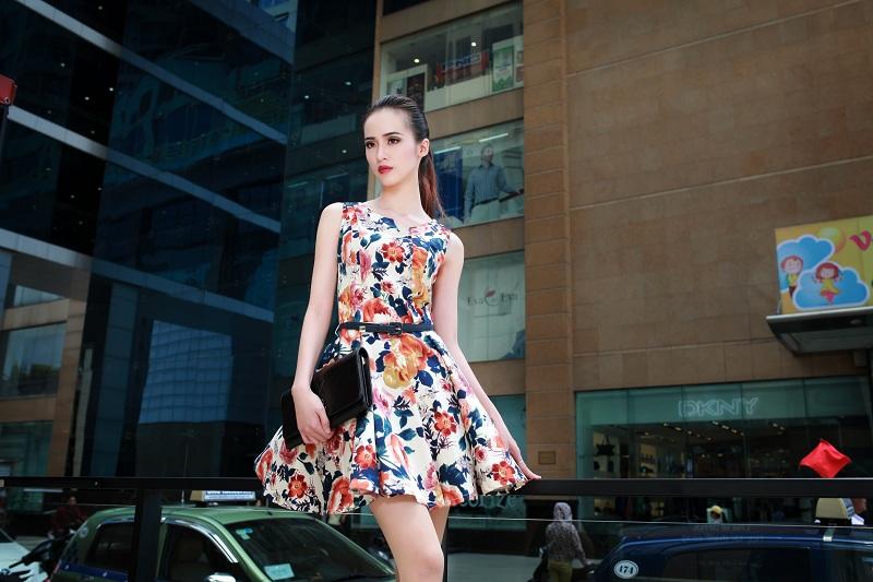 Váy liền thời trang giúp nàng công sở duyên dáng hơn 7