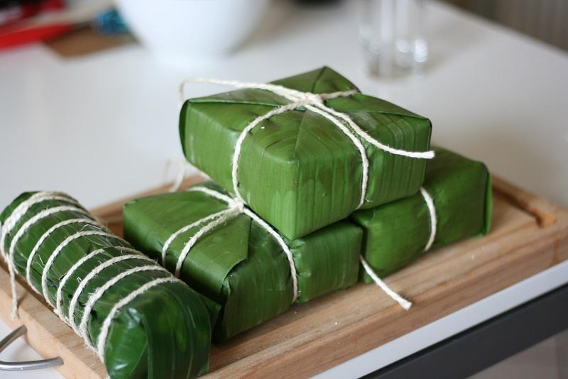 Cách nấu bánh chưng ngày tết xanh tự nhiên 1