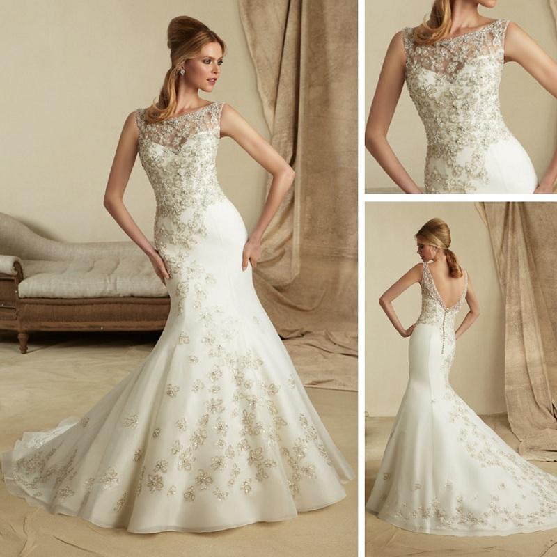 Váy đuôi cá -  Mẫu váy cưới không thể thiếu dành cho các cô dâu trẻ 4