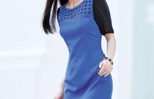 Cập nhật xu hướng thời trang 2015 với váy áo màu xanh dương 0