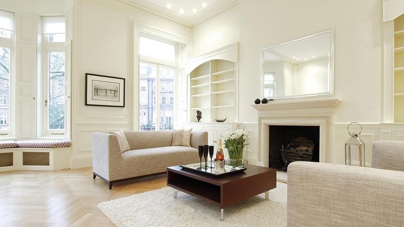 Giúp căn nhà trở nên rộng rãi, sang trọng hơn với nội thất màu trắng 0