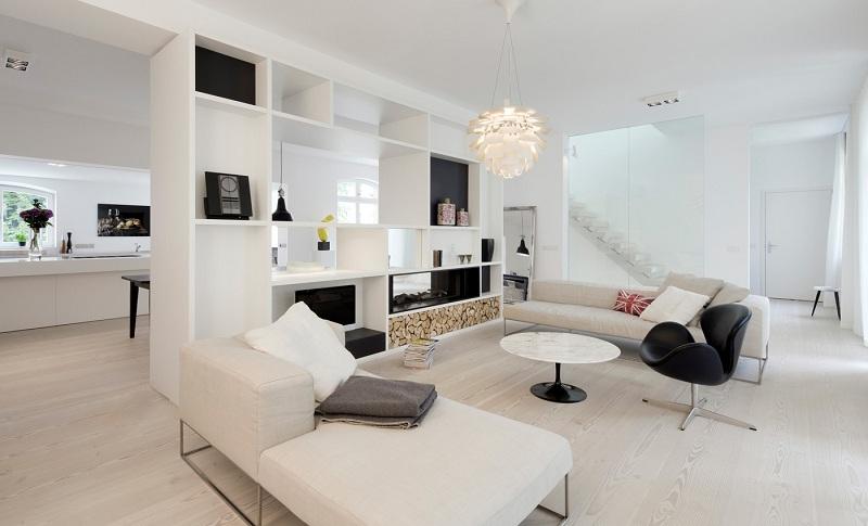 Giúp căn nhà trở nên rộng rãi, sang trọng hơn với nội thất màu trắng 6