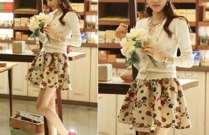 Tân trang tủ đồ bằng những mẫu chân váy hoa giúp bạn thêm tươi sắc 0