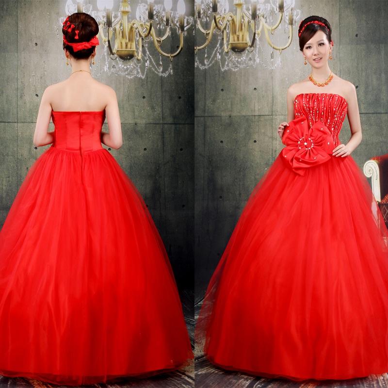 Giúp cô dâu rạng rỡ, hạnh phúc hơn trong ngày cưới nhờ những chiếc váy đỏ 6