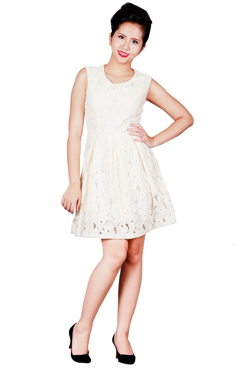 Giúp mùa hè tươi mát hơn trong những trang phục ren trắng 3