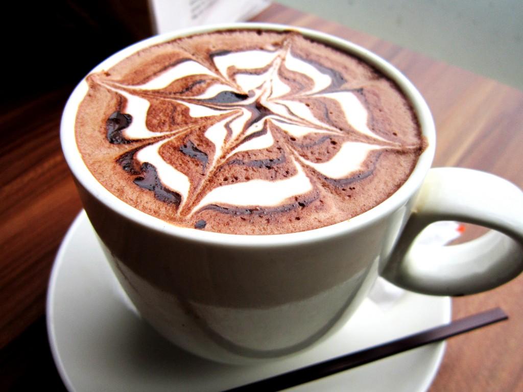 Tách cafe chocolate thoang thoảng mùi.
