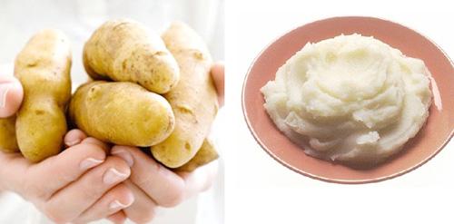 Cách làm đẹp với mỹ phẩm thiên nhiên rẻ tiền khoai tây4