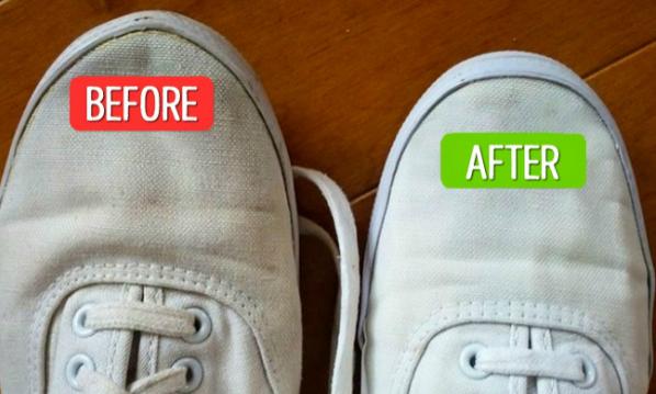 Mẹo đơn giản giúp tẩy vết bẩn trên giày vải trắng